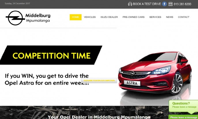 Opel Dealer Middelburg by Auto Digital Technologies (Pty) Ltd