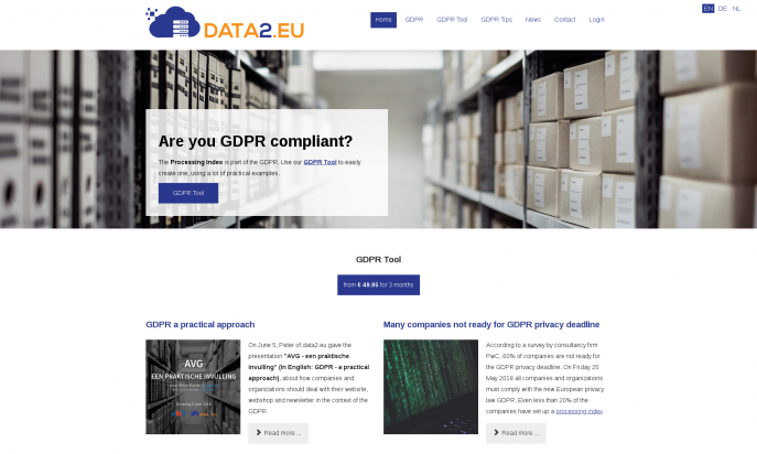 Data2.eu - GDPR Processing Index by Peter Martin & Sigrid Gramlinger