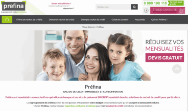 Rachat de crédit immobilier Préfina by Responis