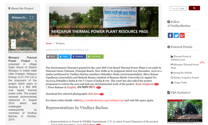 Vindhya Bachao-Vindhyan Ecology and Natural History Foundation by Debadityo Sinha