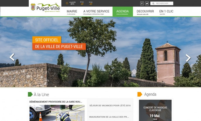 Site officiel de la ville de Puget-Ville by AGENCE DIGITALE