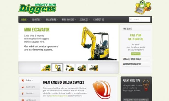 Mighty Mini Diggers Earthmoving And Excavator Services by GWS Desk