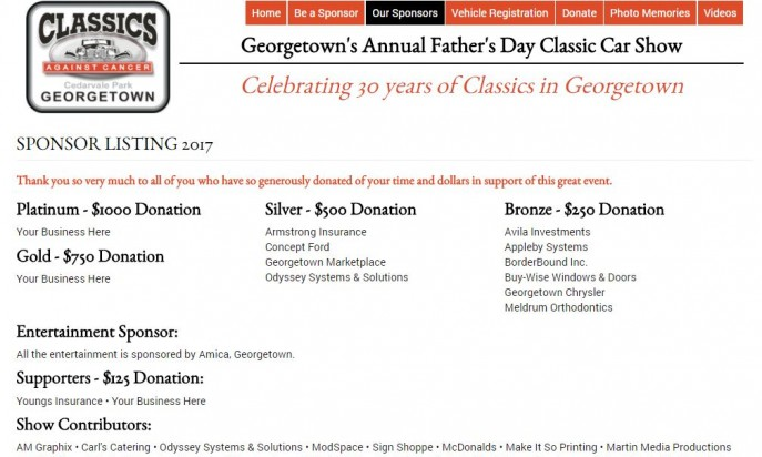 Classics Against Cancer Georgetown's Annual Father's Day Classic Car Show by AM Graphix