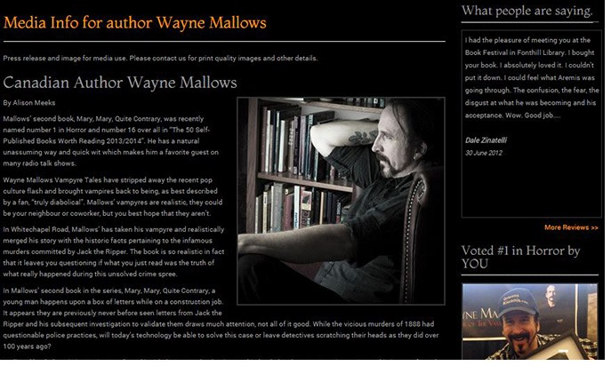 Author Wayne Mallows by AM Graphix