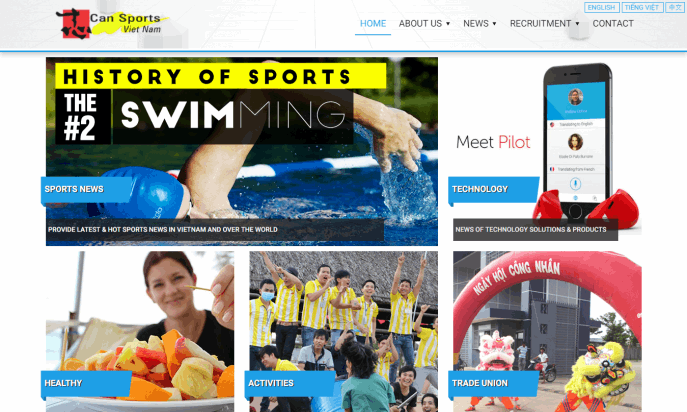 Can Sports Vietnam website by Trietbui