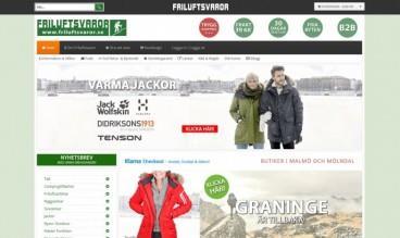 Friluftsvaror - Webshop by Joomlaproffs