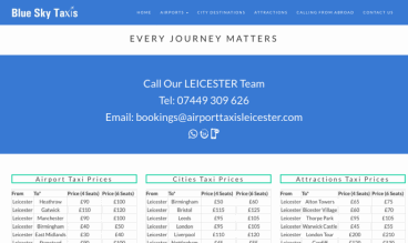 Airport Taxis by Fresh Web Services Ltd