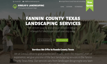 Bonham Texas Landscaping Services by Luis Posselt