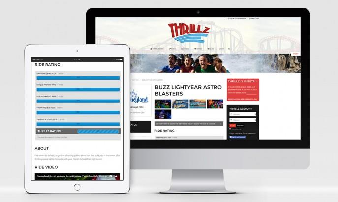 Thrillz - The Ultimate Theme Park Review Site by Modern Designs By Josh Gilson