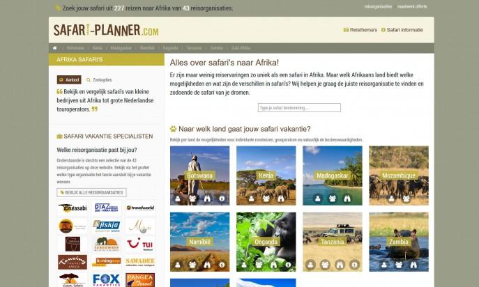 safari-planner.com by Open Source Design