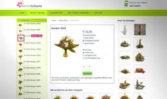 Flower webshop by Peter Wouda / Noordoost websites Heerenveen