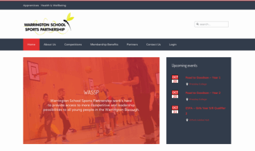 Warrington Schools Sports Partnership by ConCom Web design
