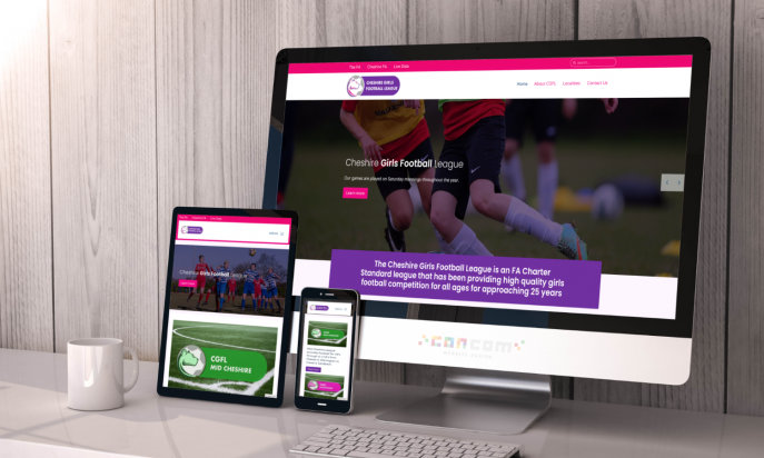 Cheshire Girls Football League by ConCom Web Design