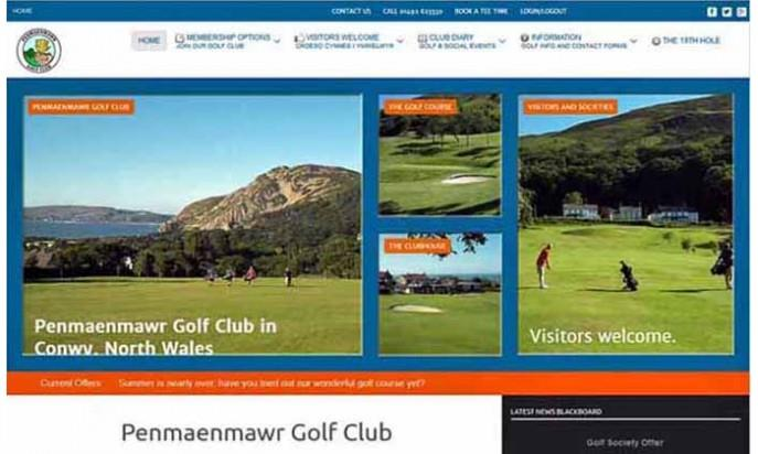 Penmaenmawr Golf Club by Keimos Designs