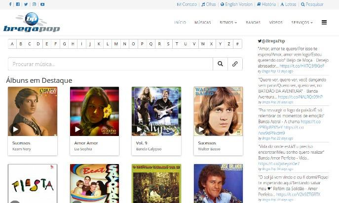 Brega Pop - Music Paraense's by Web Developer - Jose Roberto da Costa Ferreira was responsible for creating the site in December 1999.