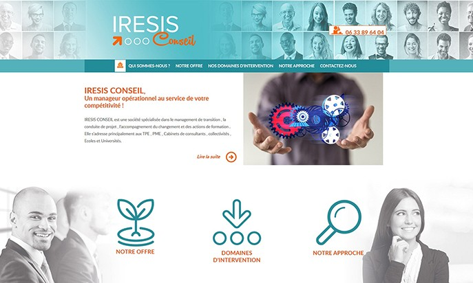 Iresis Conseil - Showcase Joomla website - Management of transition and project management by magiris