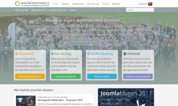 Joomlacommunity website Netherlands by Stichting Sympathy