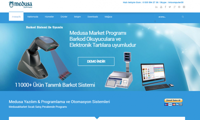 Medusa Software Market Otomasyon by GuneyDesign Web Studio