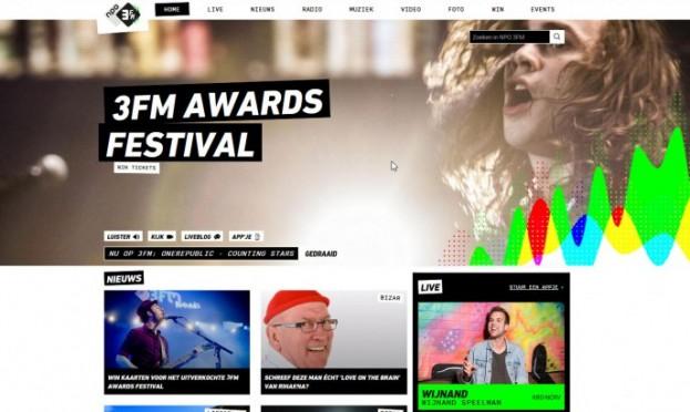 New website Radio 3FM by Perfect Web Team