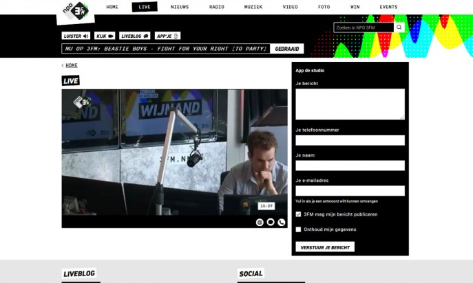 New website Radio 3FM by Perfect Web Team