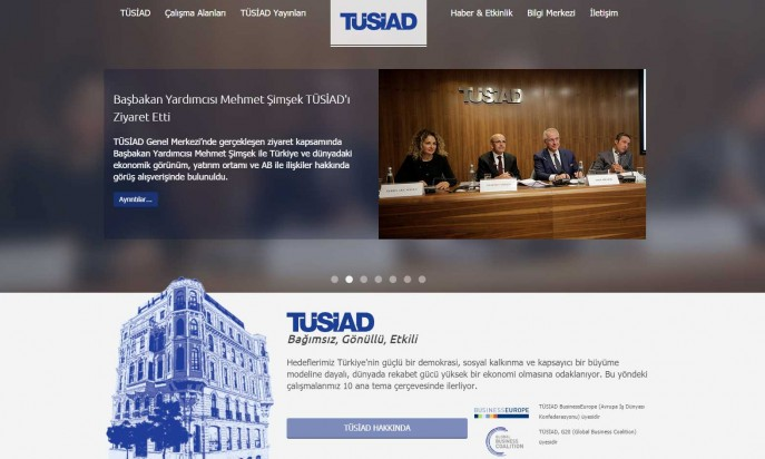 TÜSİAD - Turkish Industry & Business Association by optimumtheme