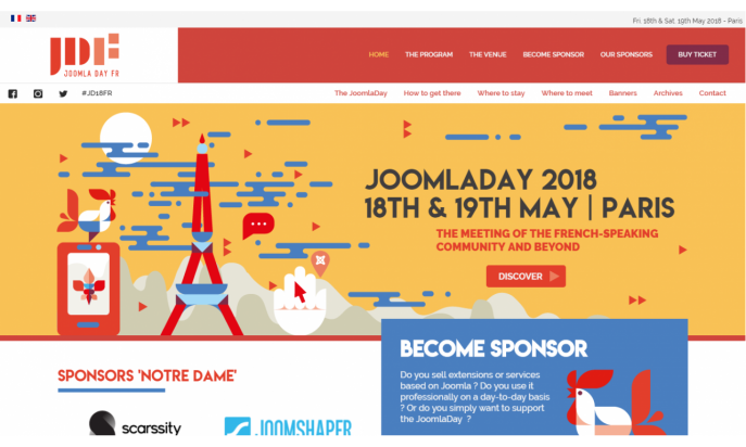 JoomlaDay FR - 18th and 19th of May 2018 - Paris by AFUJ