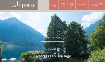 Hotel Le Prese by ecomunicare.ch Web Design