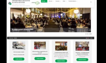 A Környezetvédelmi Szolgáltatók és Gyártók Szövetségének weboldala by KSZGYSZ