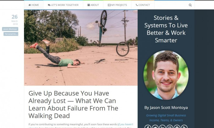 Blog: Stories & Systems To Live Better & Work Smarter by Jason Scott Montoya by Jason Scott Montoya