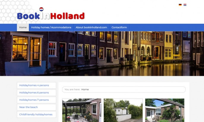 Book in Holland by JS Webdesign