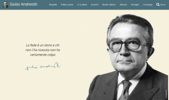 Giulio Andreotti Official Site by Stefano Pascucci
