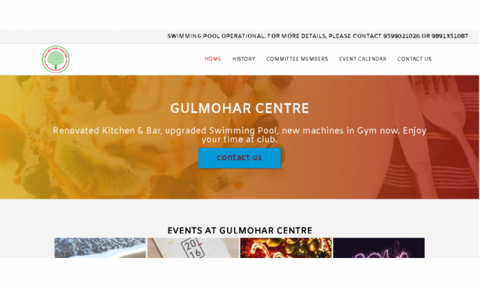 Gulmohar Centre - A Social Club by DELHI WEBSITE STUDIO