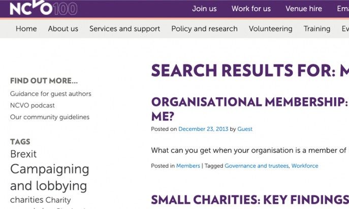 The National Council for Voluntary Organisations by Clickingmad Ltd