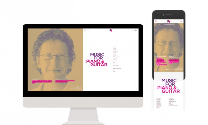 Florian Malecki -  Music for Piano & Guitar by Dégagée – Agency for Web & Design