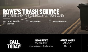 Rowe's Trash Service by Coughlin Printing