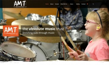 Absolute Music Trust by Web design agency