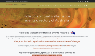 Holistic Events Australia by Petra Webstein