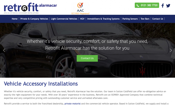 Retrofit Alarmacar Specialist Vehicle Installations by Andrew Lowry