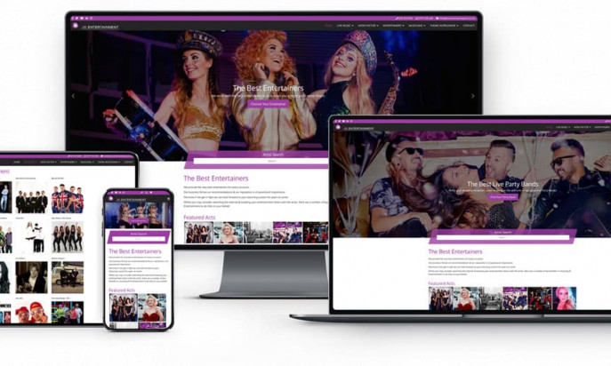 JK Entertainment Agency by Andrew Lowry Web Design and SEO