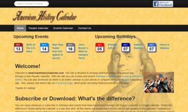 American History Calendar by Dan Cogliano