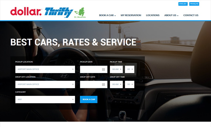 Dollar/Thrifty, the #1 Car Rental in St. Maarten/St.Martin by IDIMweb