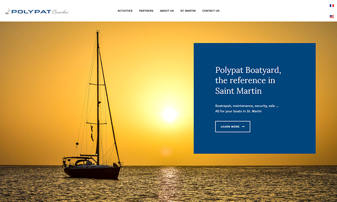 Polypat Boatyard, the reference in Saint Martin by IDIMweb
