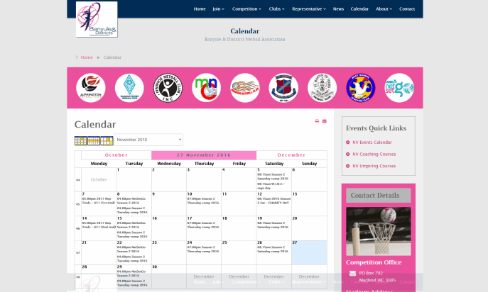 Banyule Netball Association by WebSolutionZ