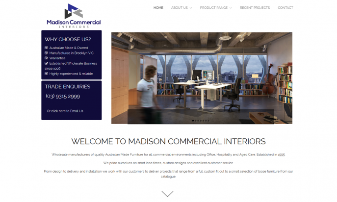 Madison Commercial Interiors by WebSolutionZ.com.au