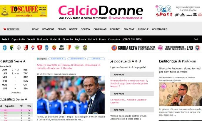 Calciodonne.it by Pettinati Communication