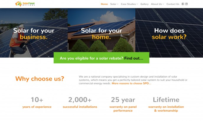 Solar Panel Options by Mity Digital