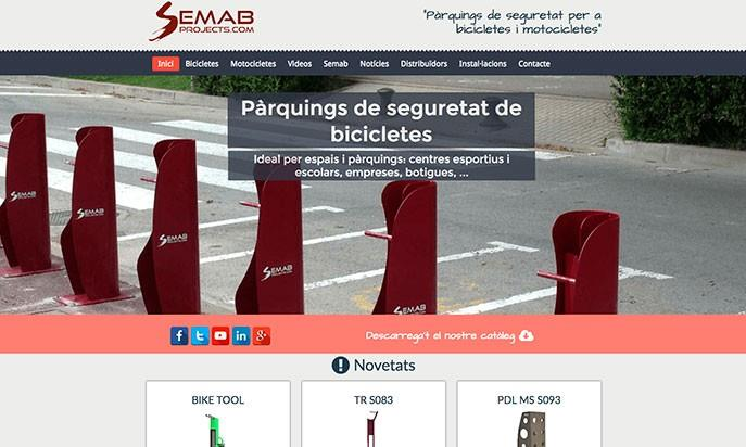 Semab - Bicycle and motorcycle safety parkings by Webs de Futbol