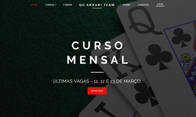 QG Akkari Team - Best course of Poker in Brazil by Big4Web